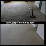 carpets cleaned, before and after
